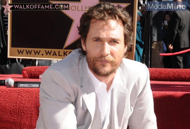 Matthew McConaughey's official Hollywood Walk of Fame Star ceremony