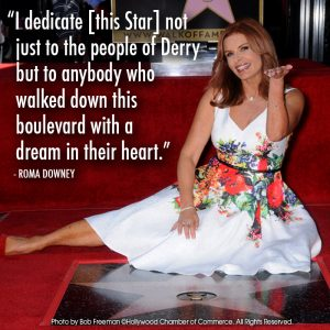 Roma Downey gets her Star on the Hollywood Walk of Fame.