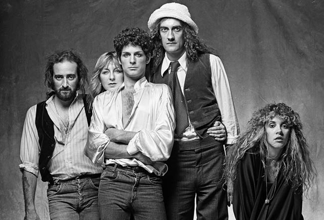 Stevie Nicks with Fleetwood Mac during a session with Norman Seeff