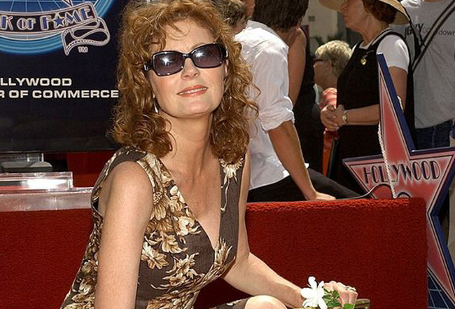 Susan Sarandon at her official Hollywood Walk of Fame Star Ceremony